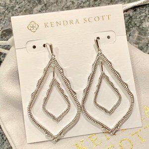 New Kendra Scott Simon Earrings In Silver
